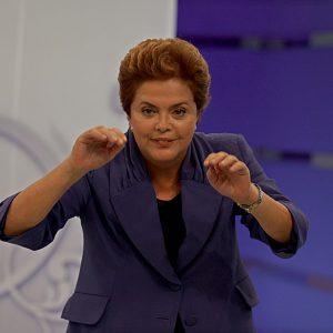 São Paulo, 17 de Maio de 2010 PoliticaA candidata Dilma Roussef do PT gravou uma entrevista com o apresentador Ratinho nos Estudios do SBT.
