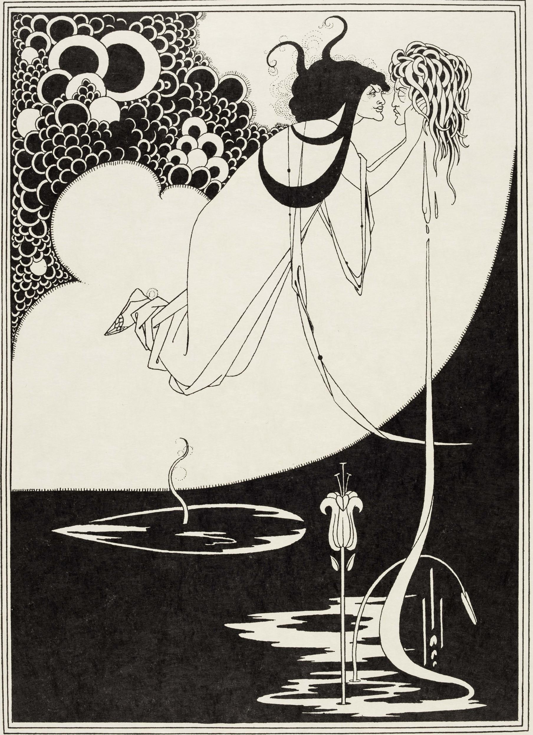 Aubrey Beardsley, J'ai baisé ta bouche Ioka-naan, The Studio, n°1, avril 1893. Collection Merlin Holland