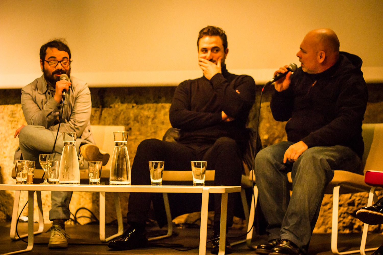 De gauche à droite : Tahiti Boy, Mikael Schutz, Marc Caro